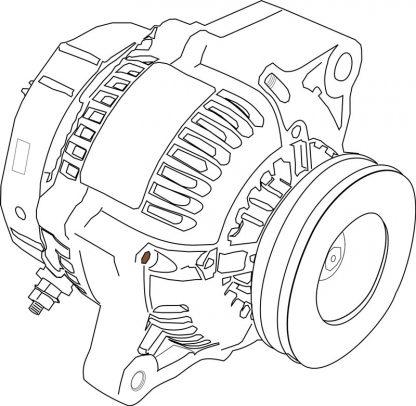 Schéma d'un moteur électrique
